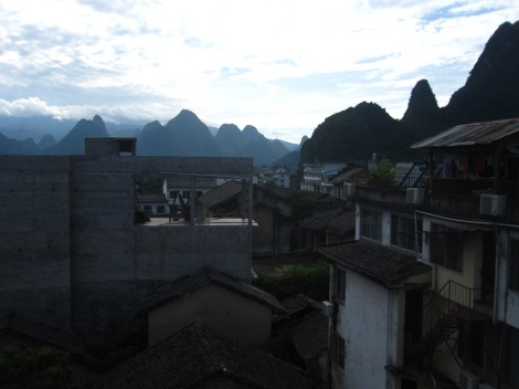 from a xingping rooftop
